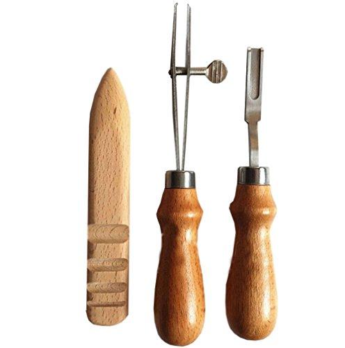 bangdan Leather Tool Leathercraft Kit Edger Slicker Creaser Beveler Skiving - Edger Wing Punch