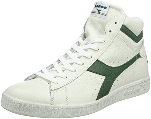 Adulto High Alto Fogliame L Unisex Sneaker Bianco Collo Game a Diadora Waxed – Bianco Z0vqEAxOw