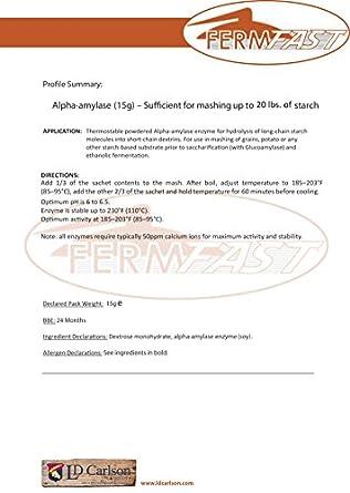 fermfast hozq8 - 049 amilasa enzimas dosis única paquete 10 ...
