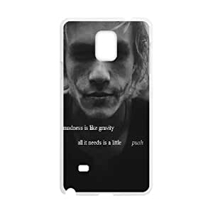 Samsung Galaxy Note 4 Cell Phone Case White Joker Quote JNR2179735