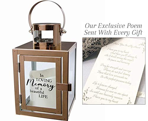 Dulaya Memories In Art Sympathy Gift Lantern with LED Candle...