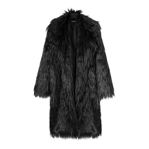Winter Ladies Parka Fur Fur Fluffy Coat Women Causal Fake Autumn Black Synthetic Soft YuanDian Outwear Elegant Faux Lengthen Overcoat Warm Long wUzSxAq1