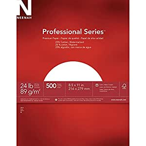 Neenah Paper Royal Cotton Fine Business Paper, 500-Sheets, White, 8.5 x 11-Inch (28679)