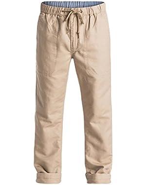 Men's Antigua 2 Linen Pants and HDO Travel Sunscreen (15 SPF) Spray Bundle