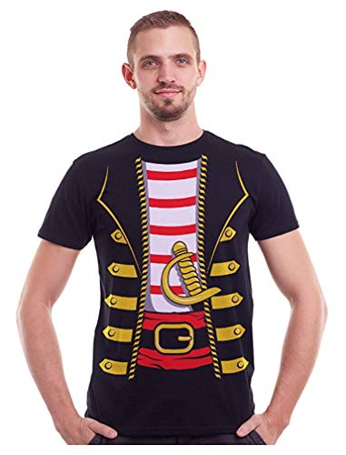 Beverly Davidson Pirate Buccaneer Halloween Easy Costume T-Shirt for Men Adult -