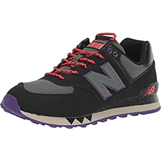 New Balance Men's 574 V2 Sneaker, Black/Slate Green, 6 W US