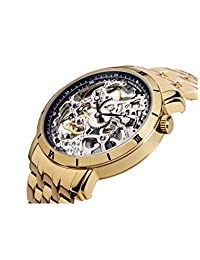 Made in Germany Rio Theorema skeleton mechanical movement gold steel.