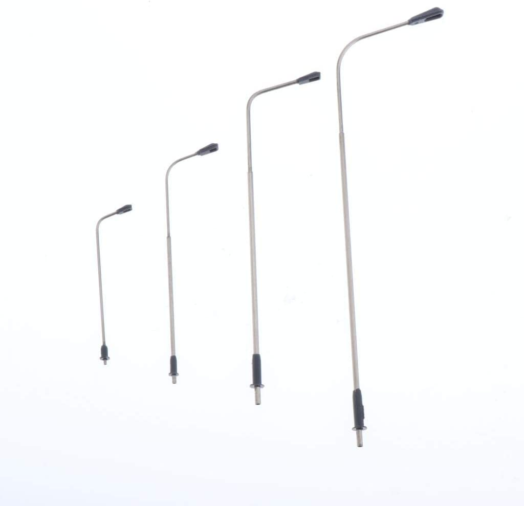 100 Sharplace 10 Piezas de Luces de Calle de Poste de L/ámpara de Tren Ferroviario Modelo para Escala HO OO 1