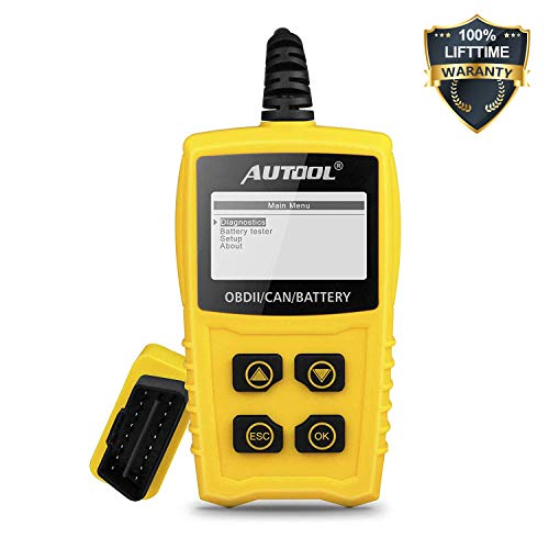 AUTOOL OBDII Code Reader OBD2 Scanner, CS330 Automative Diagnostic Engine Code Scanner with Battery Tester Car Engine Fault Code Reader with I/M Readiness for CAN OBD 12V SUV/Car/Van