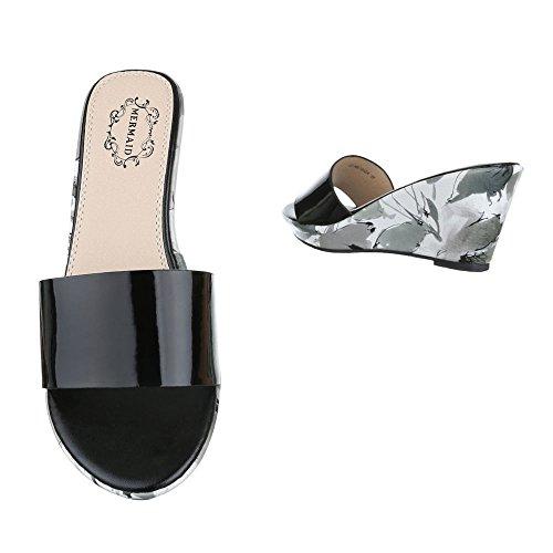Ital-Design Sandalias de Vestir de Material Sintético Para Mujer negro