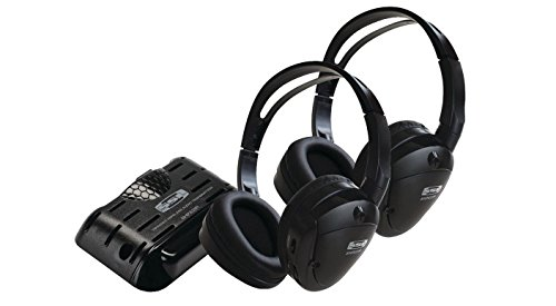 (Sound Storm SHP22IR Two Pairs of Foldable Wireless Headphones with Infrared)