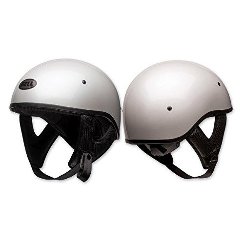 White Sports Face Bell Helmet (Bell Pit Boss Sport Open-Face Motorcycle Helmet (Solid Gloss White, Medium))