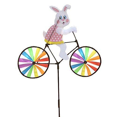 Tangc Cute 3D Animal on Bike Windmill Wind Spinner Whirligig Garden Lawn Yard Decor (3#)