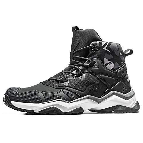 (RAX Men's Waterproof Lightweight Leather Hiking Boot Venture(10.5 M US) Black)