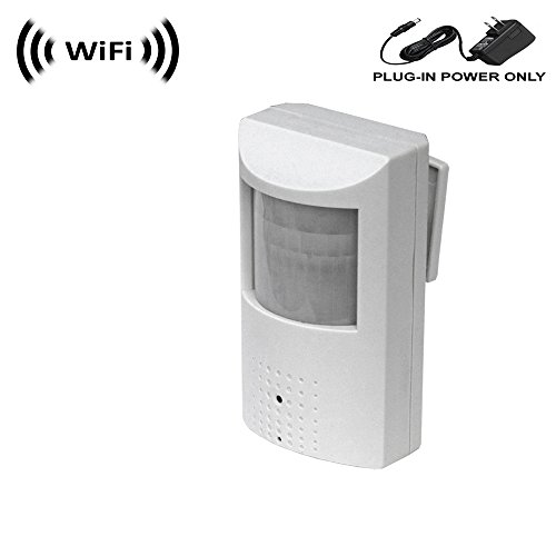 Wireless Spy Camera with WiFi Digital IP Signal, Recording & Remote Internet Access (Camera Hidden in PIR Motion Detector)