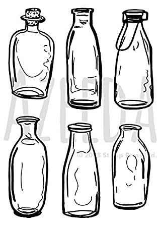 A5 Botella de Vidrio Sello de Goma (Desmontado) (SP00012852)