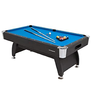 Ultrasport 8ft. Pool Billardtisch Diamond - inkl. 2 Queues, Kugelset, Dreieck...