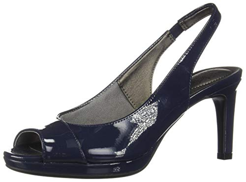 LifeStride Women's Invest Dress Sandal, Lux Navy, 7.5 M US