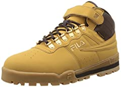 Fila's casual outdoor hiking boots combine a casual look, to go along with their technical features. These midcut boots look good for both work and walking around town.