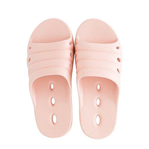 FankouZapatillas de verano femenino baño interior fugas expuesta una espuma ligera y simple base fast dry cool zapatillas y desodorización ,37-38,C zapatillas para el agua
