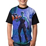 Ghoul And Skull Trooper Child's Boy Girl Short Sleeve Crew Neck Funny Top T-Shirt S