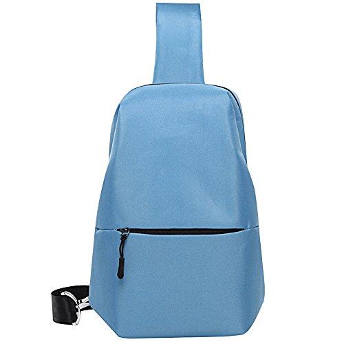 Lona De Mochila Mochila Bolsa Los Mochila Crossbody Bag Oxford Hombres Blue De PANGOIE Estudiante Pecho Deportiva Pequeña Bolso Bolso Sling De De Los Casual De Hombres Shoulder Tela Fwc7x