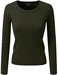 Women's Long Sleeve Round Neck Knit Sweater