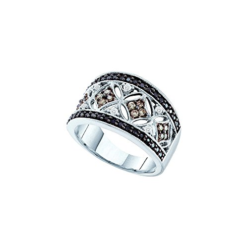 14k White Gold Round Black Cho