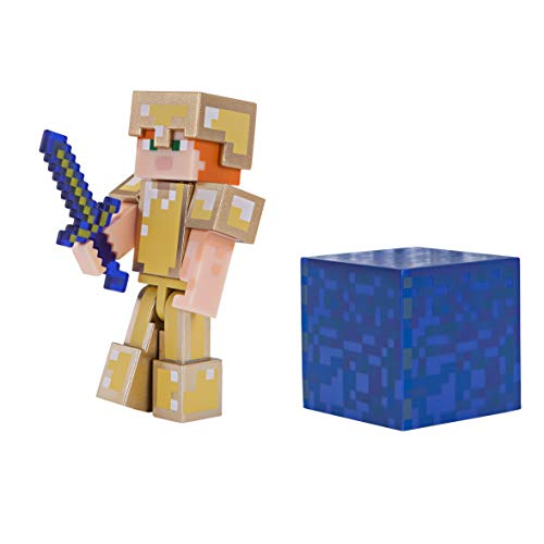 Minecraft Alex in Gold Armor Figure Pack (Minecraft Toys Figures)