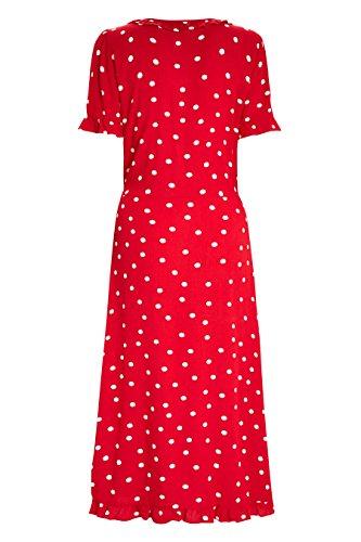 Gepunktetes next Damen next Damen next Rot Kleid Gepunktetes Damen Rot Kleid Gepunktetes qdEw0Fgxn