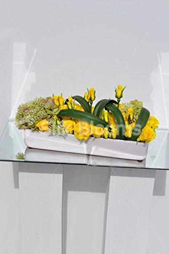 Moderno Arreglo Floral Artificial De Mesa Rectangular De