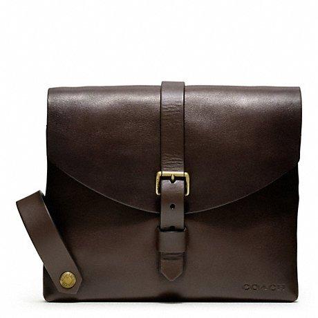 COACH Bleecker Leather Handlebar Frame Bag in Mahogany ()