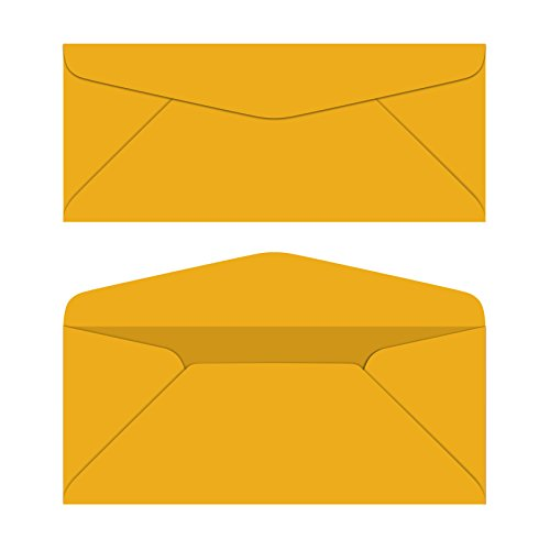 #10 Business Color Mailing Envelopes | 4 1/8 X 9 ½ inches | 24lb Bond Bright Color Paper (90 gsm) | 50 Envelopes Per Pack | Galaxy Gold ()