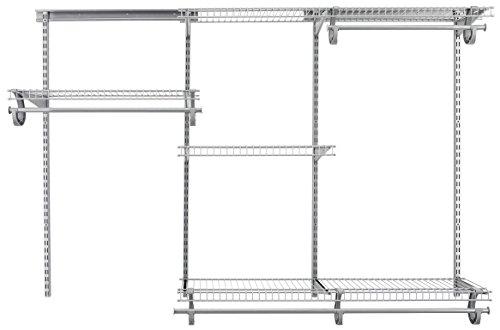 (ClosetMaid 78808 ShelfTrack 4ft. to 6ft. Adjustable Closet Organizer Kit, Satin Chrome)