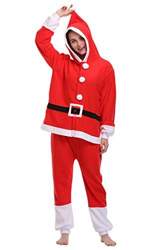 FS Unisex Adult Onesie Pajamas Santa Animal Costume Sleepwear -