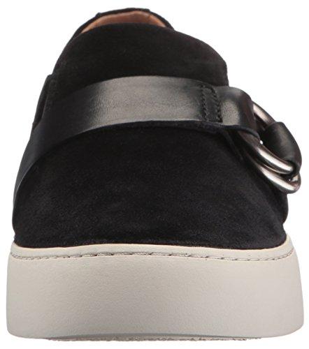 Frye Dames Lena Harnas Slip Op Fashion Sneaker Zwart Zacht Geolied Suède