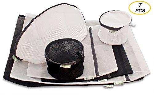 Wäschenetz - 7-teiliges Premium-Set mit extra Wäschebeutel fur Schuhe - 10 Jahre Garantie - Linen Essentials