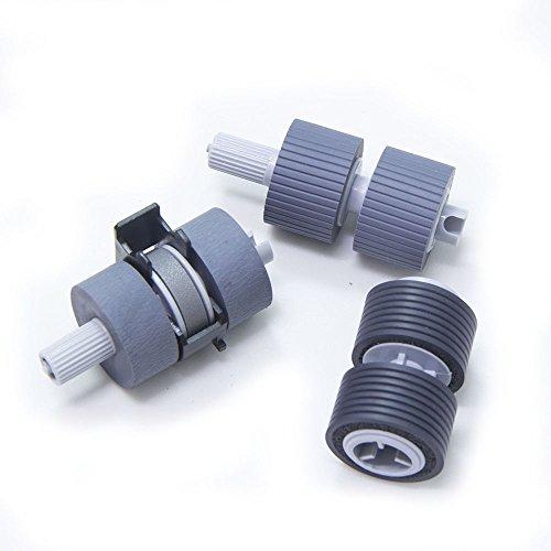 YANZEO Scanner Brake and Pick Roller Set PA03338-K011 PA03576-K010 For Fujitsu FI-6670 Fi-6770 6770A 5650C FI-5650C FI-5750C 5750 by Yanzeo