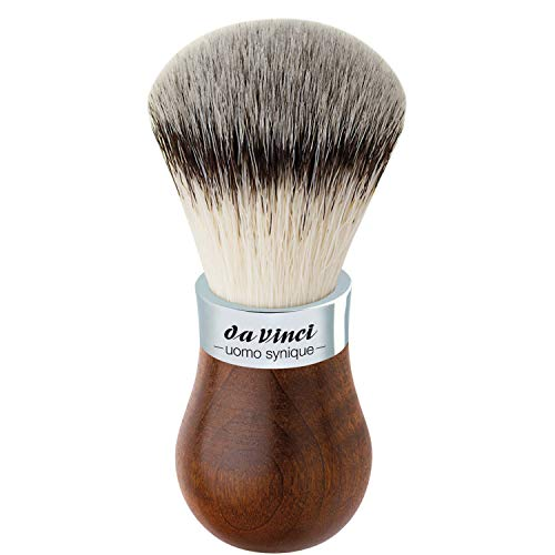 da Vinci Shaving Series 279 UOMO Synique Shaving Brush, Synthetic with Kebony Wood Handle, 22mm