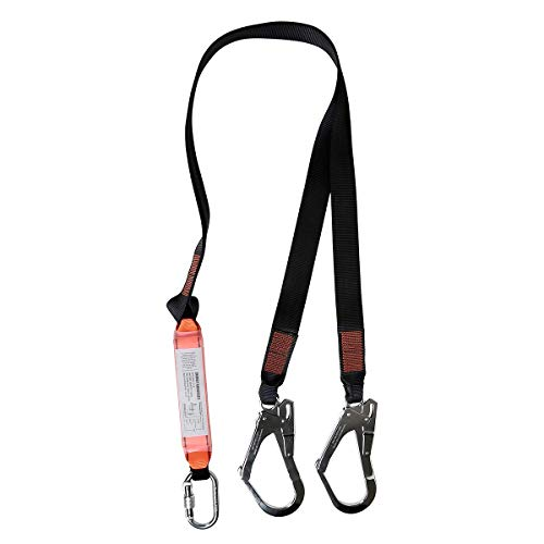 KSEIBI 422006 Single Leg Snap Hook and Two Scaffolding Hook w 6-Foot Internal Shock Lanyard Fall Protection Equipment for Safety Harness by KSEIBI (Image #1)