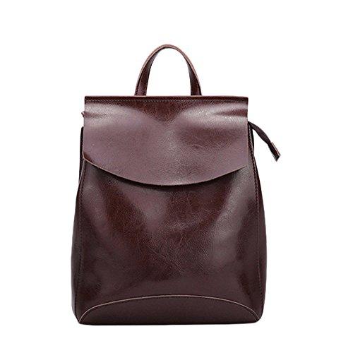 En Bandoulière Femme Shoulder Bandoulière Lady Trend à Bag à Cuir Sac Retro Brown College Sac 5CWgEFqHq