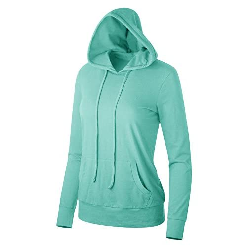 Cheap FACA Womens Thin Cotton Blended Pullover Hoodie (S-L) supplier NFX7yPCP