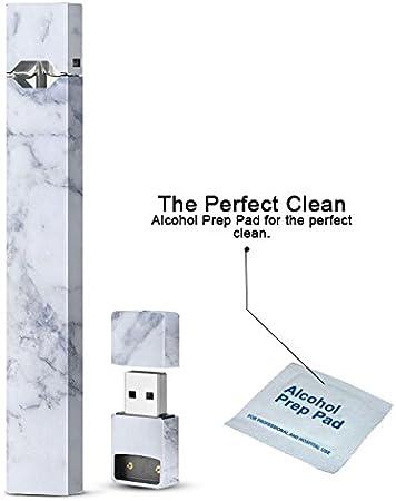 JUUL Charger Skin /& Prep Pad Juul Skin Wrap Vinyl Sticker Decal Blue//White Marble