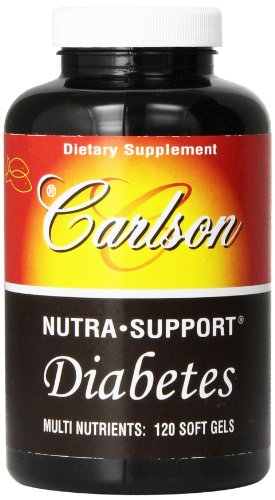 Carlson Nutra support Diabetes 120 Softgels