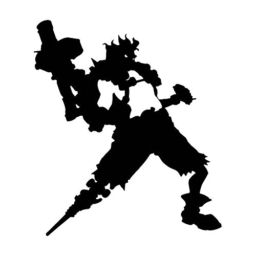 Video Game Overwatch Junkrat, Gold, 12 Inch, Die Cut Vinyl Decal, For Windows, Cars, Trucks, Toolbox, Laptops, Macbook-virtually Any Hard Smooth Surface -  LCK Unique Design, LCK-120487-Gold-12-Inch