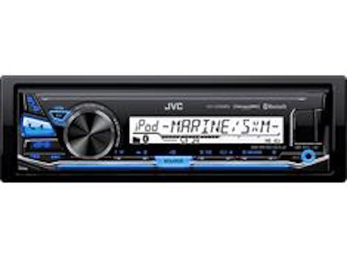 JVC KD-X33MBS Single DIN Marine Grade Bluetooth In-Dash Mechless Car Stereo ()