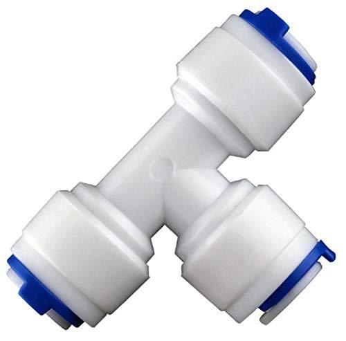 tubo de 1//4 pulgada Tspkey Tubo de suministro de agua para frigor/ífico de 10 m kit de conector para refrigerador doble de estilo europeo