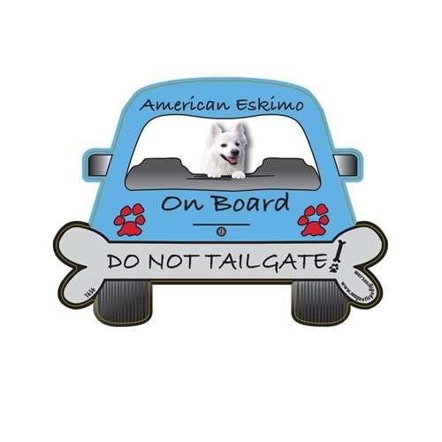 (American Eskimo Tailgate Custom Shaped Magnet)