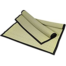 Oriental Furniture Simple Natural Beautiful Yoga Mat, 6-Feet Japanese Design Woven Grass Goza Throw Rug, 72 by 36-Inch