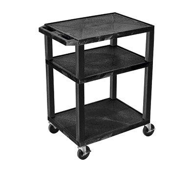 H WILSON WT34 Presentation Cart with 3 Shelves, 34